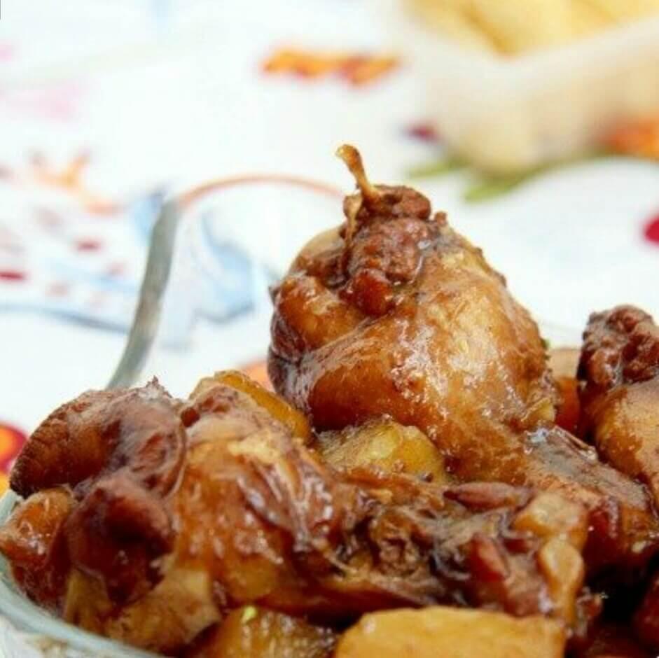土豆炖翅根