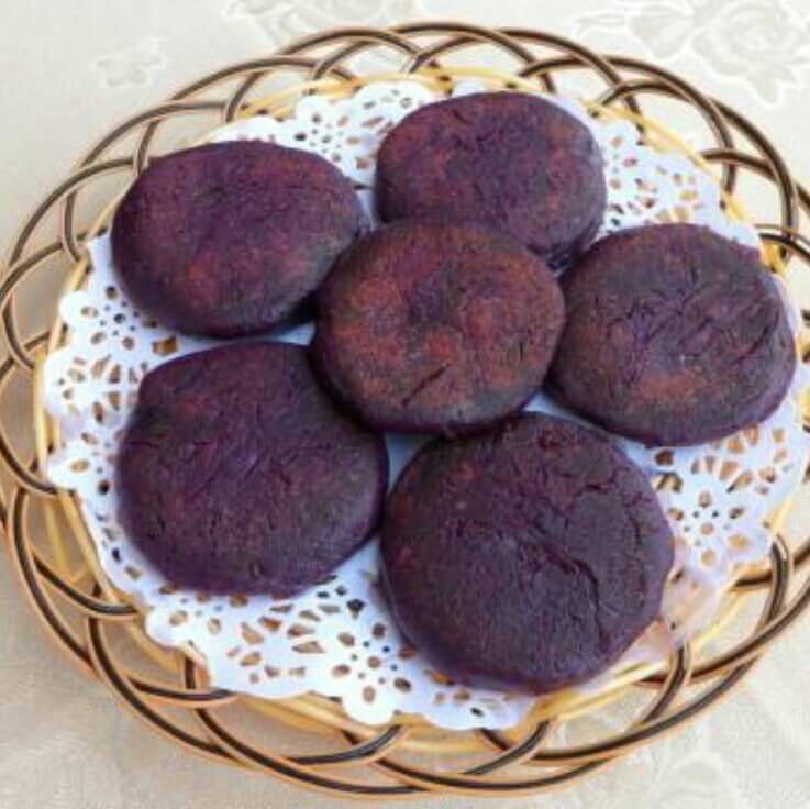 口感好的紫心红薯丝丝饼