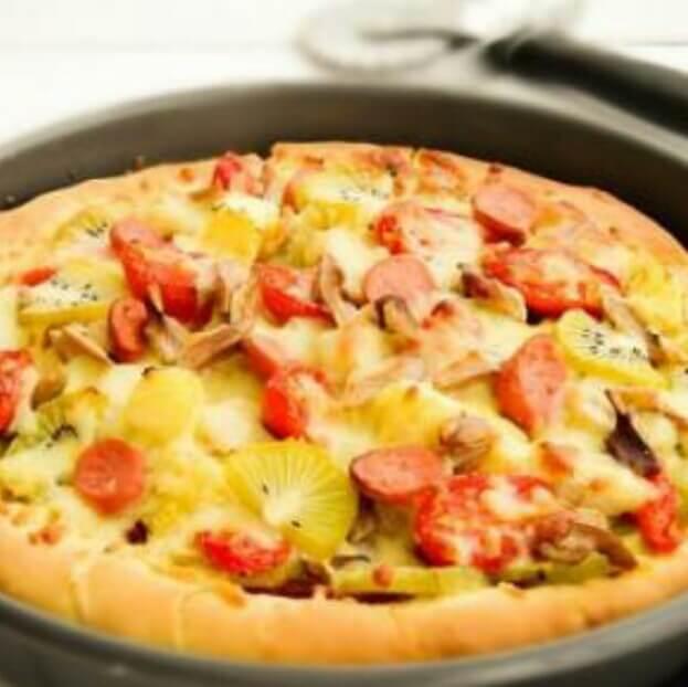 清爽版水果披萨