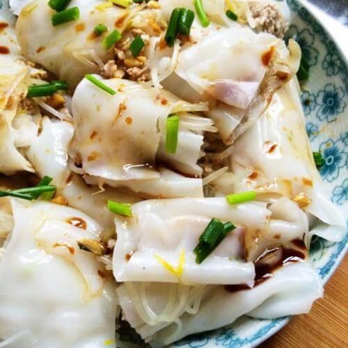 韭黄猪肝肠粉
