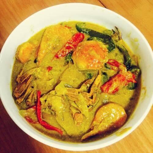 在家做的泰式咖哩炒蟹