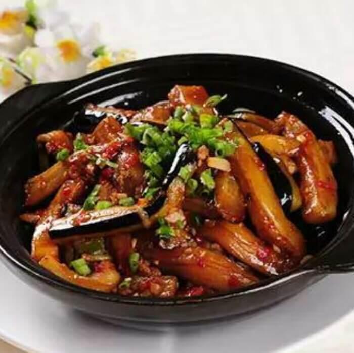 酱烧虾米茄条