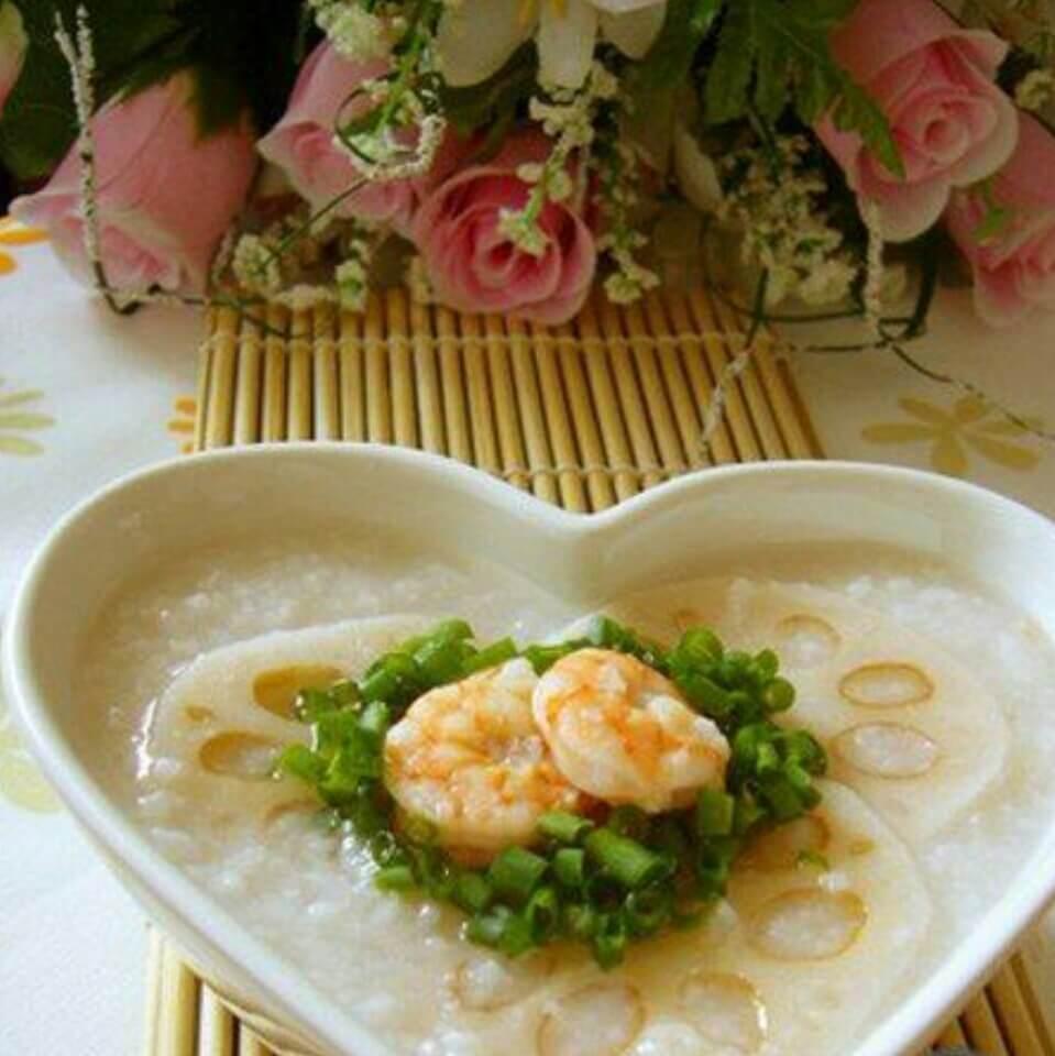 莲藕虾仁粥