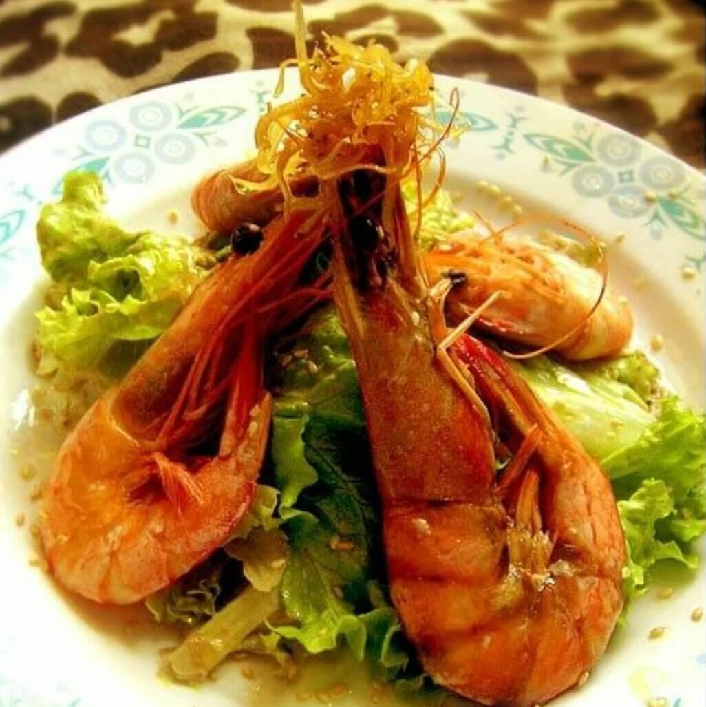 红虾丁香鱼沙拉