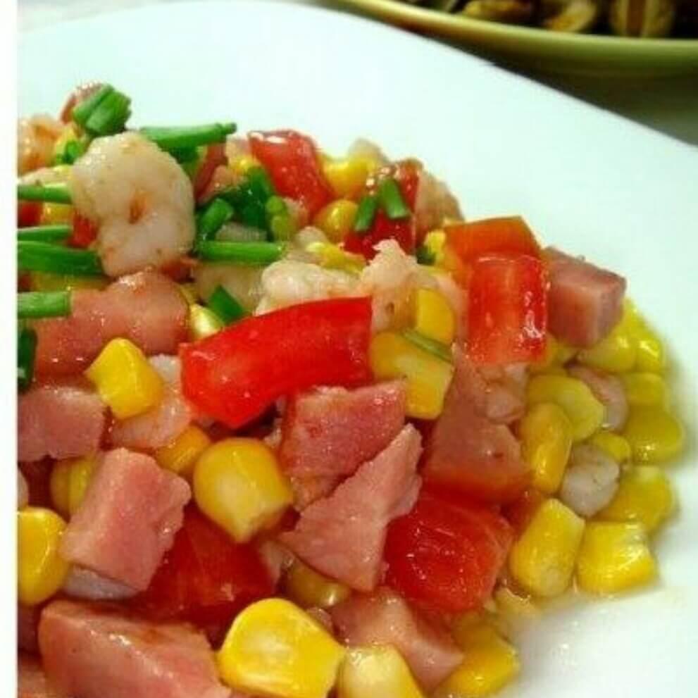 熏肠玉米虾仁