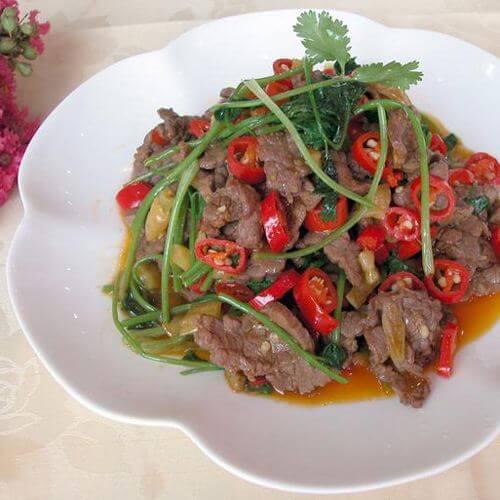 野芦笋炒牛肉