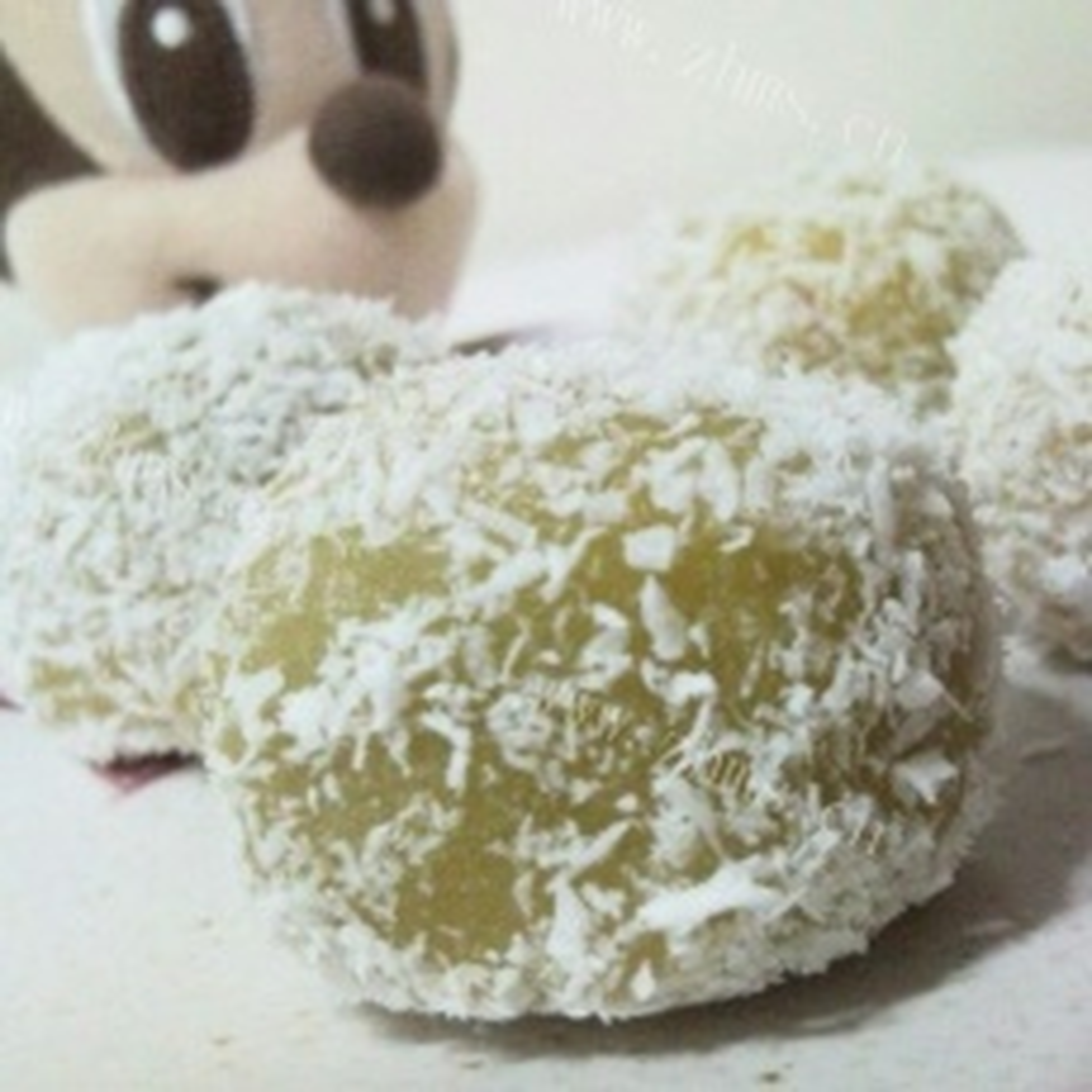 哈密瓜红豆沙糯米糍