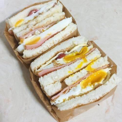 南瓜沙拉三明治