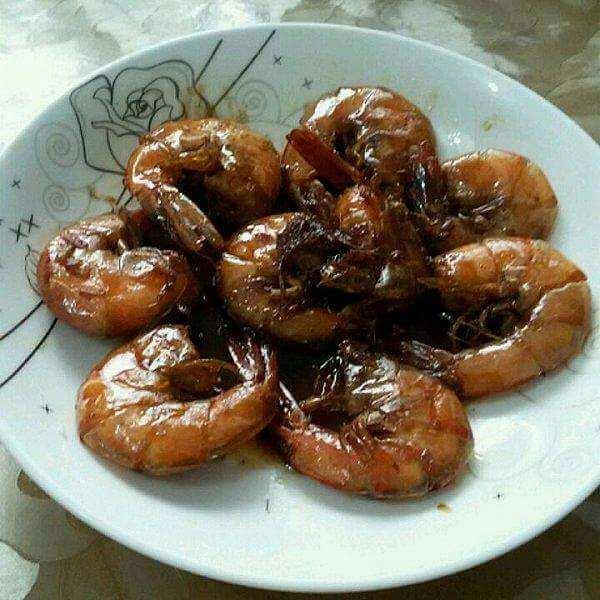 黑椒焖大虾
