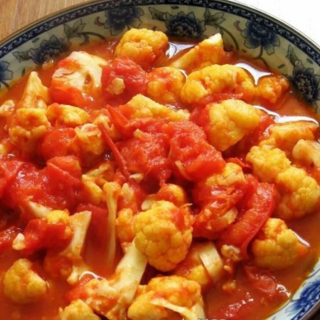 花菜烩番茄