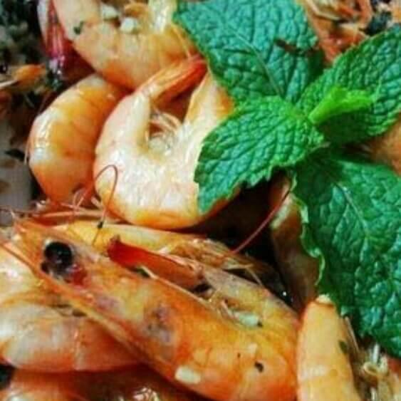 蒜香薄荷虾