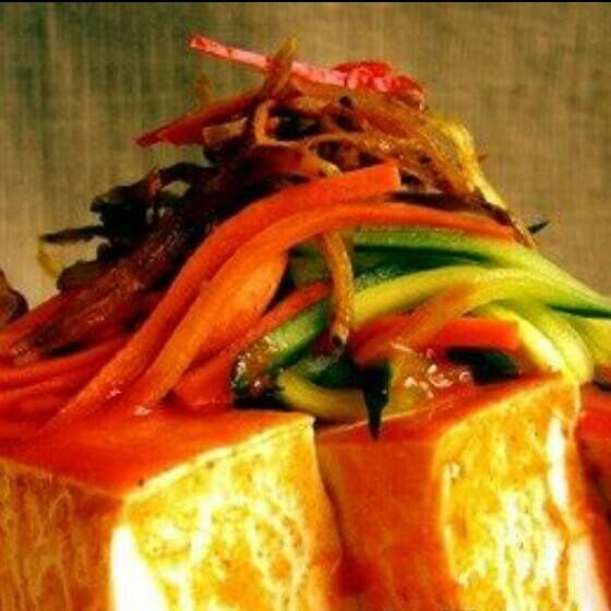 蒜香三丝拌豆腐