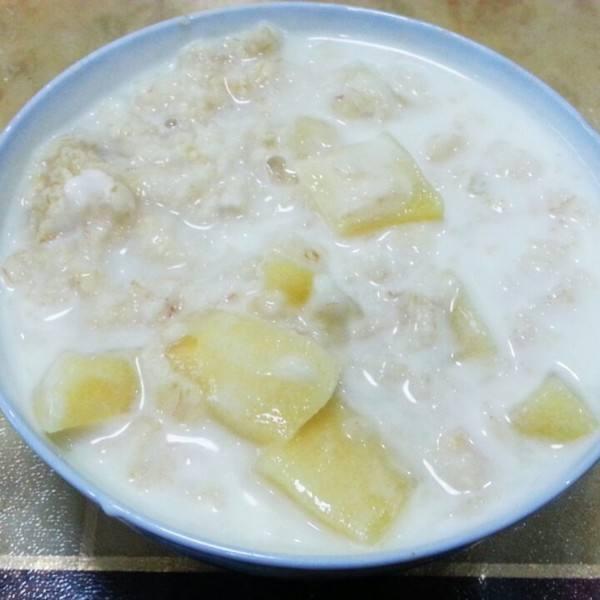 苹果西米粥