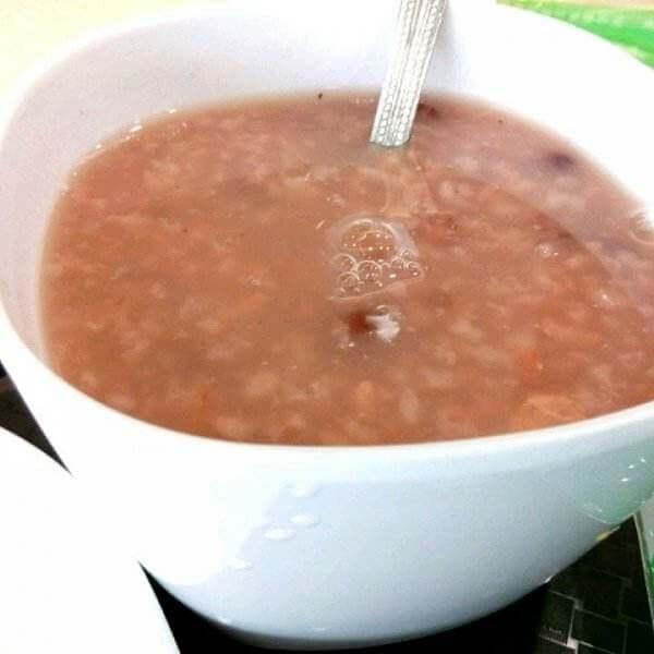 炒米红豆粥