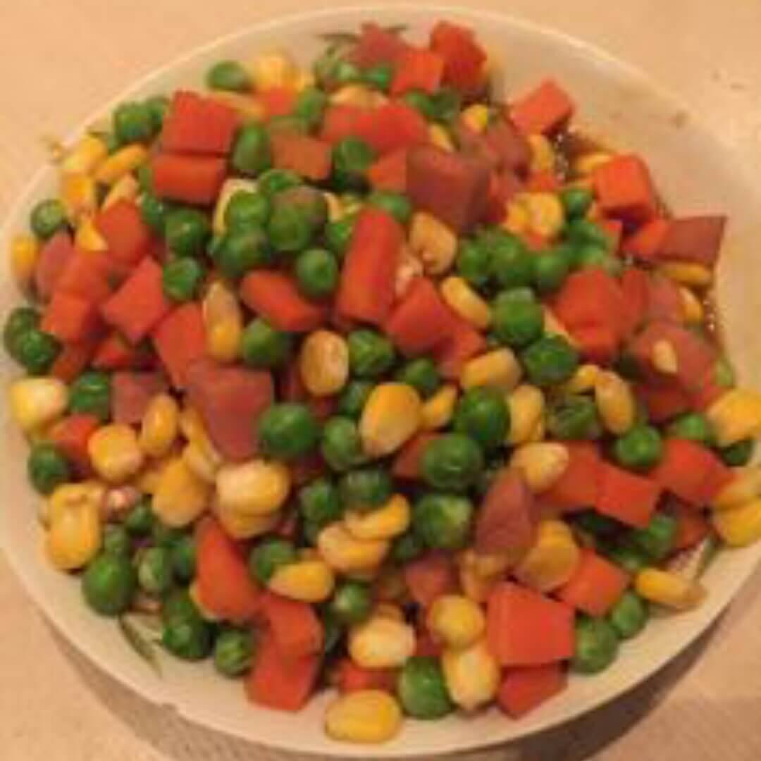 青豆红萝卜鸡丁