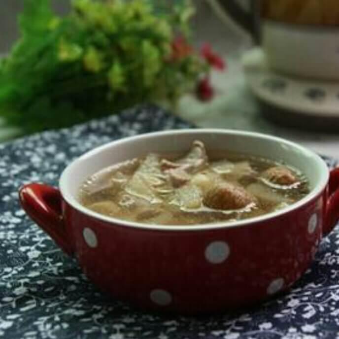 马蹄杏仁绿萝大骨汤