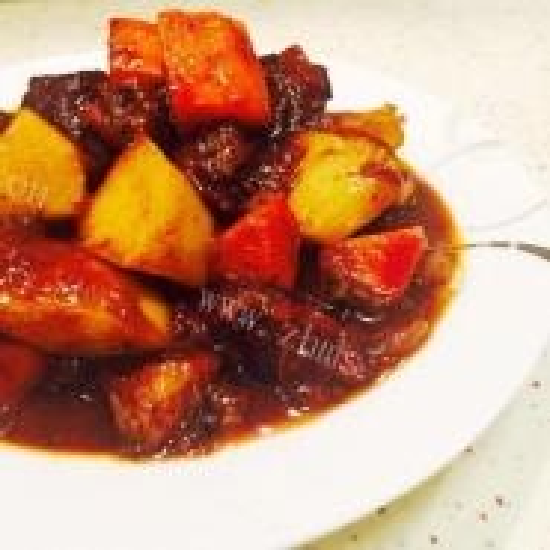 番茄鲮鱼烧土豆