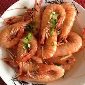 味道不错的柠香基围虾