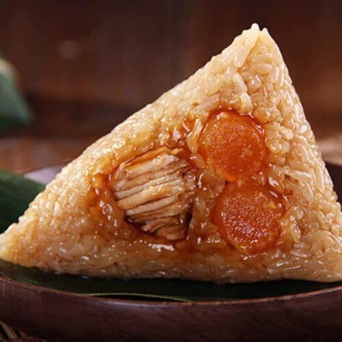 咸香蛋黄肉粽