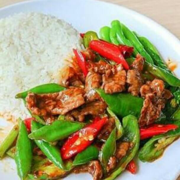 尖椒牛肉饭