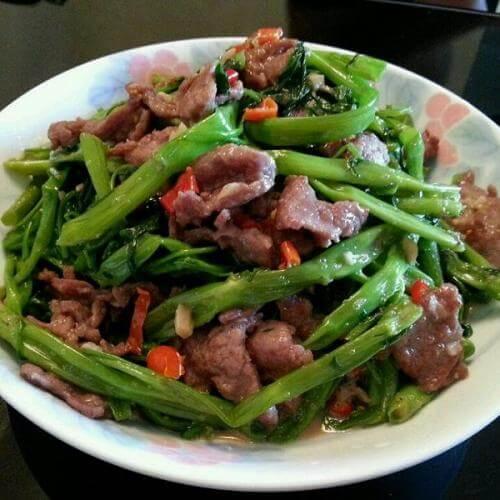 豆角虾酱炒烧肉