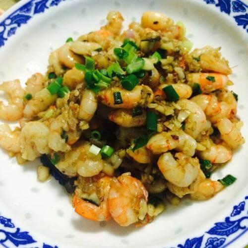 韭菜炒虾蛋