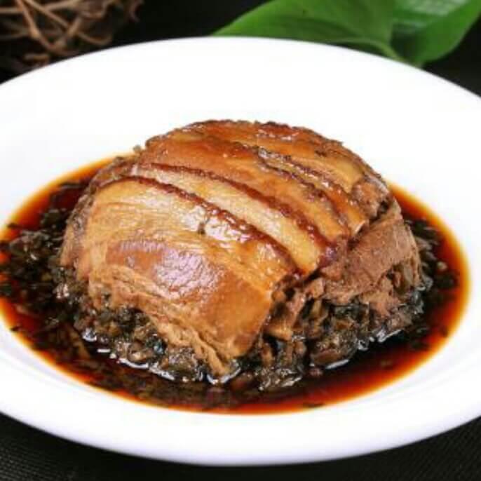 梅菜芯蒸肉