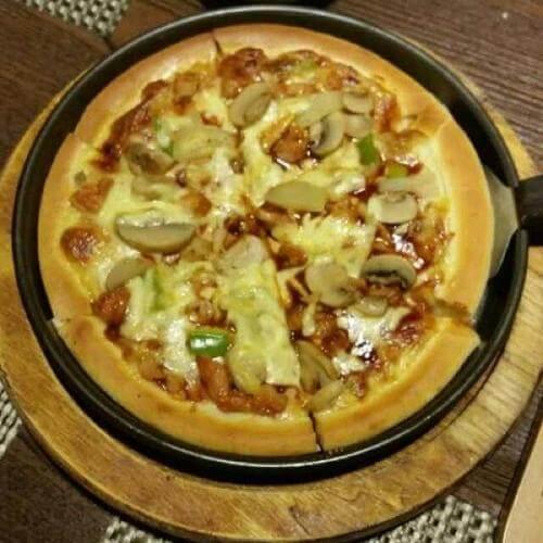鲜虾土豆香菇披萨