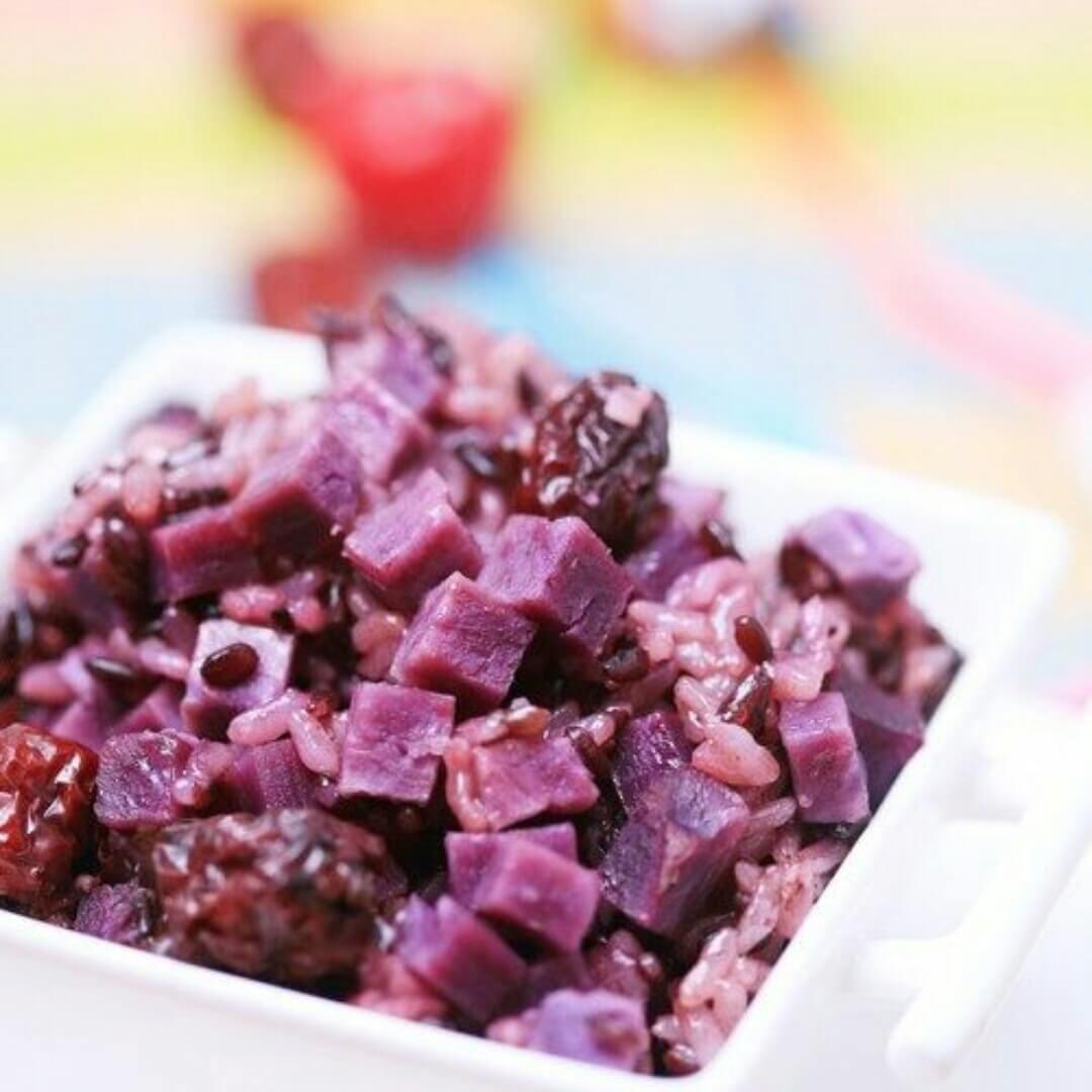 紫薯红枣饭