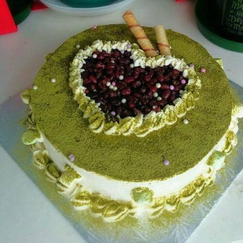 绿茶红豆戚风蛋糕