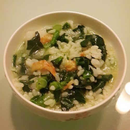 香菇火腿菜泡饭