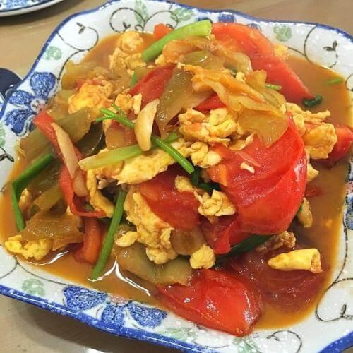 咸菜炒鸡蛋