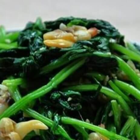 美味菠菜拌蛤蜊肉