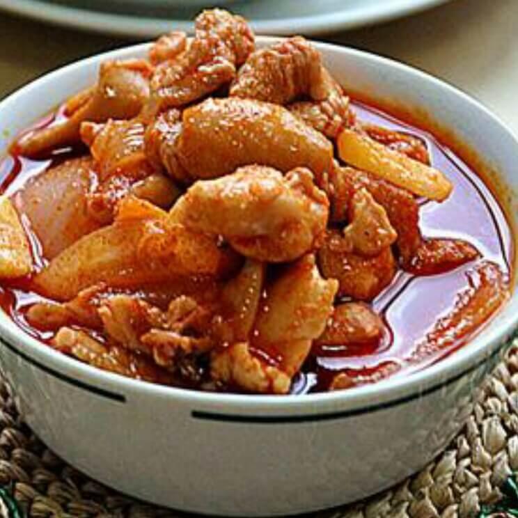美味韩式辣酱炒鸡