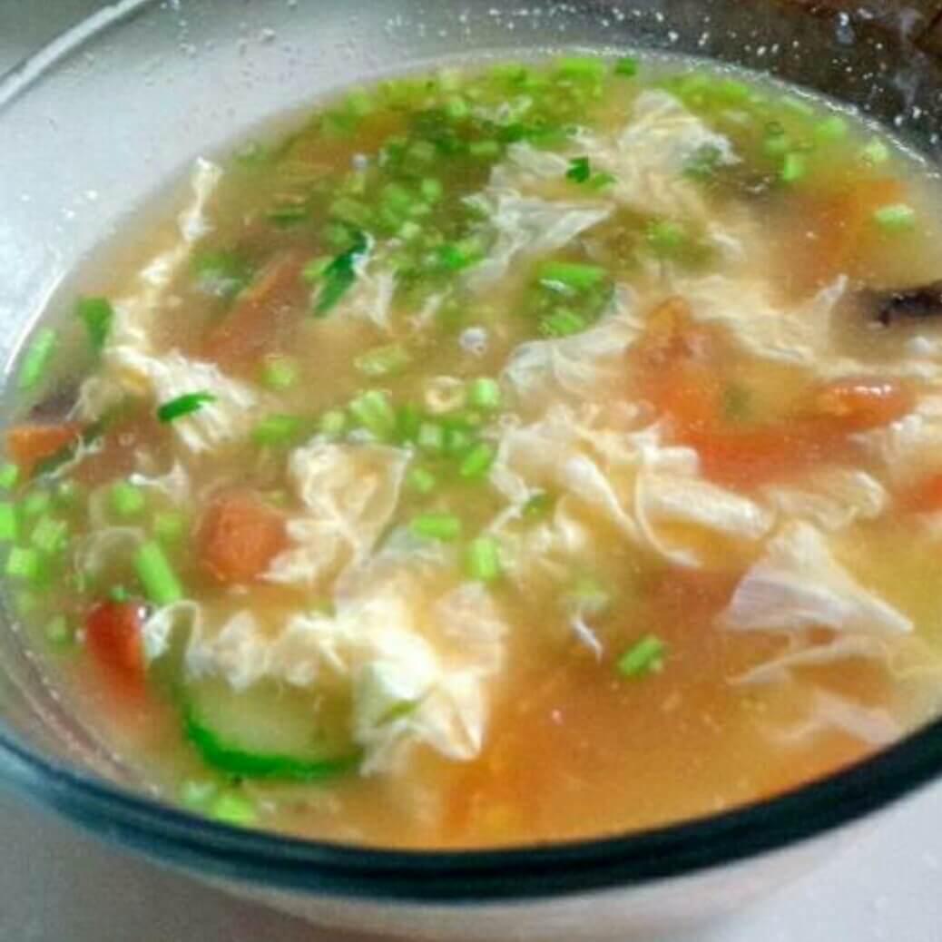 虾皮西红柿汤