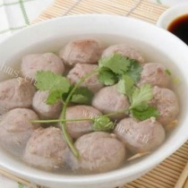 手工肉丸子汤