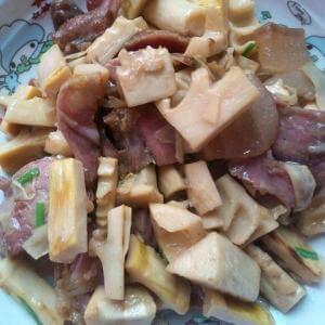 冻豆腐炒猪面珠灯肉