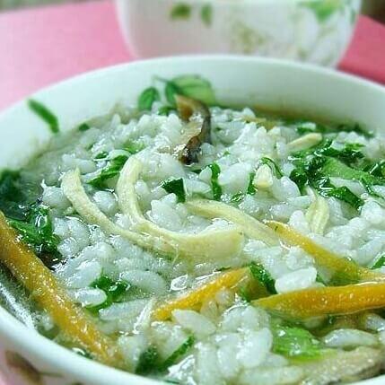 香菇鸡丝泡饭粥