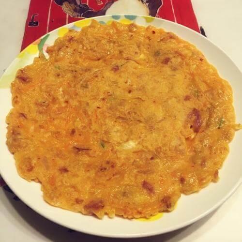 香煎葱花泡菜饼