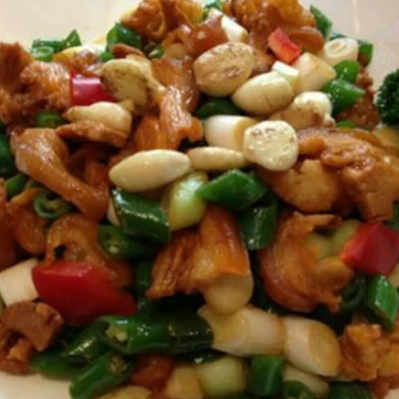粉丝虾米炒椰菜