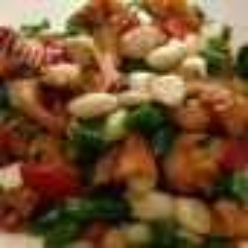 家常菜粉丝虾米炒椰菜