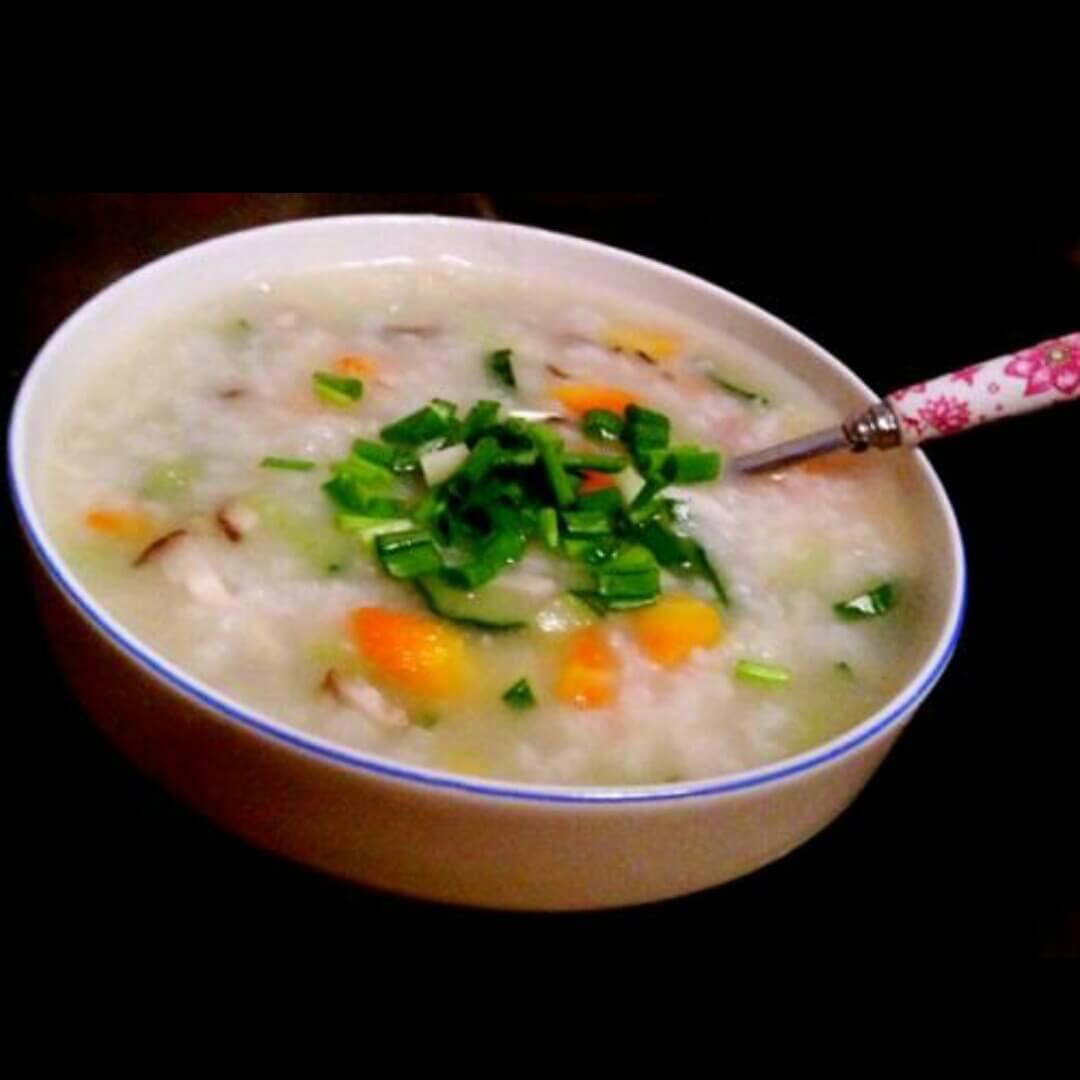 虾仁蔬菜粥