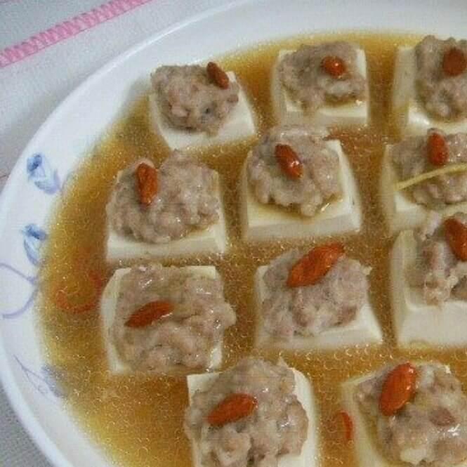 清蒸枸杞豆腐方