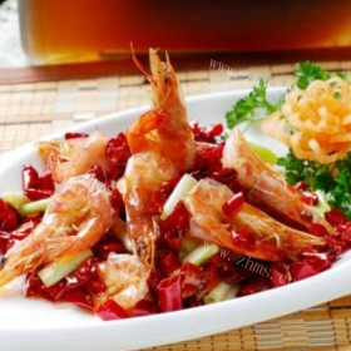 香辣油焖大虾干