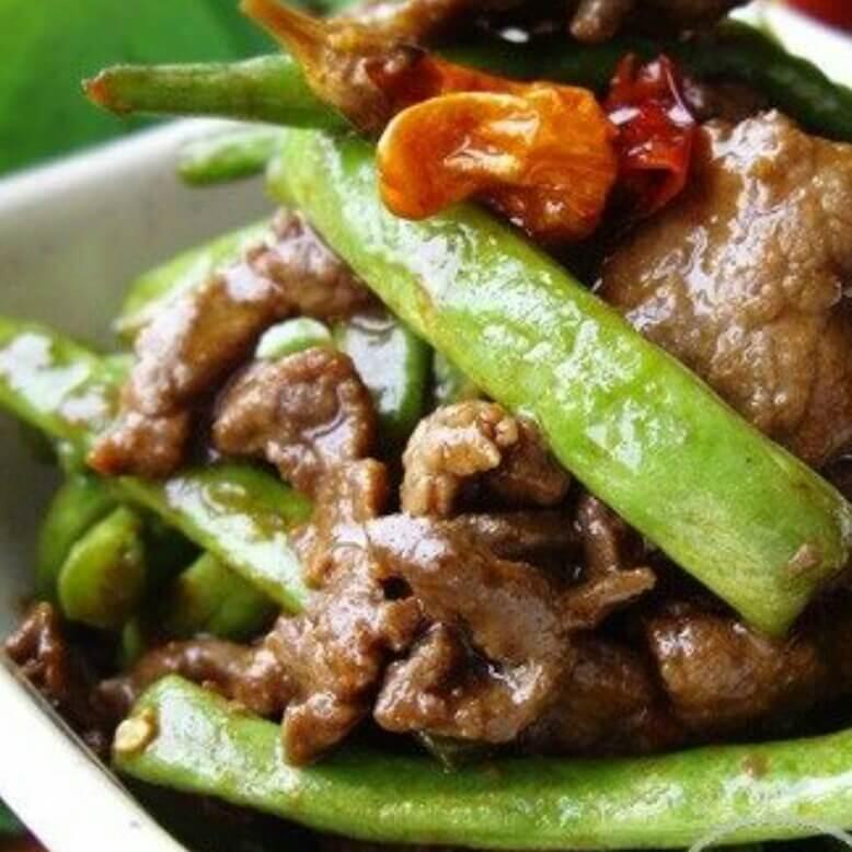 牛肉煸四季豆