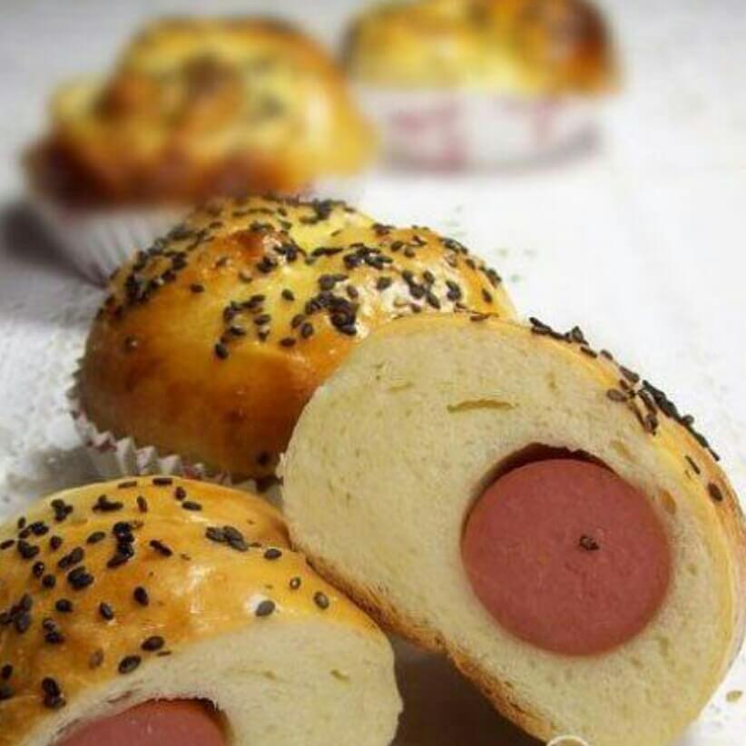 脆皮香肠面包