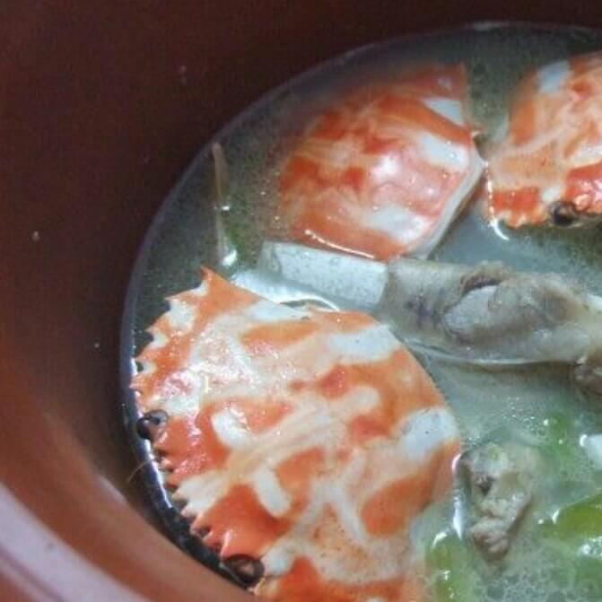 花蟹苦瓜汤