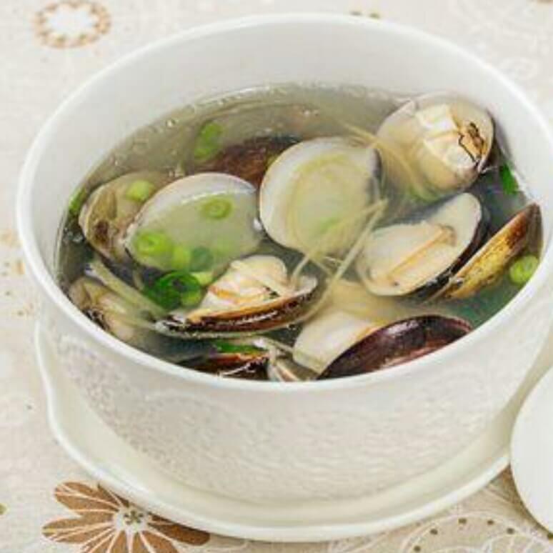 蛤蜊双菇汤
