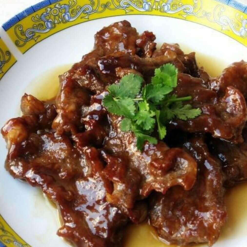 美味的香煎蚝油牛肉