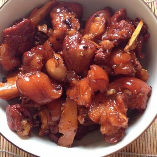 茄汁烩猪手